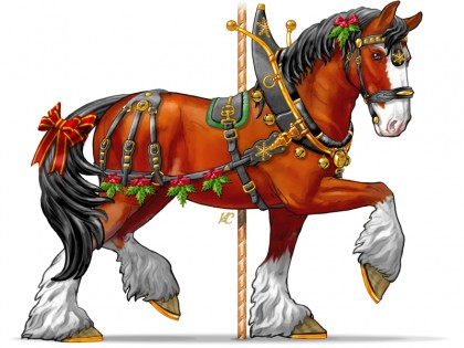 Caballo Regaldo, the Gift Horse (A Christmas Clydesdale)