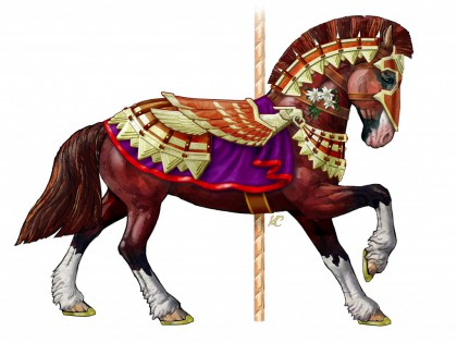 Sir Adrian Chapman, the Armored Horse