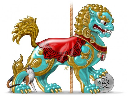 Friend, the Chinese Foo Dog
